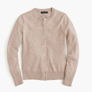 J. Crew Cotton Jackie Cardigan Sweater in Tan, used for sale